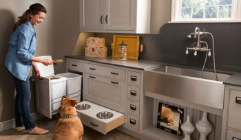 wood-mode cabinets pet parlor